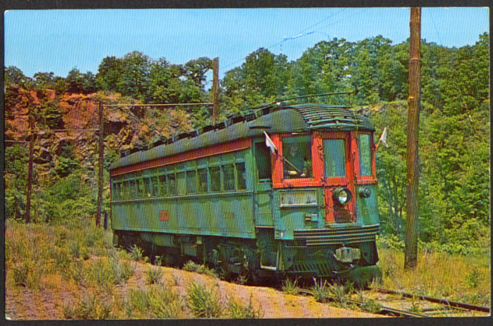Branford Trolley Museum Car #709 CT postcard 1960s
