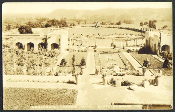 Samarkand Persian Hotel Santa Barbara CA RPPC 1910s