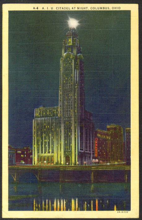 RKO Palace AIU Citadel Columbus OH postcard 1943