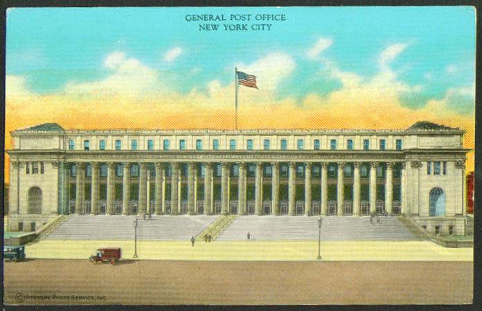 General Post Office New York City postcard 1910s