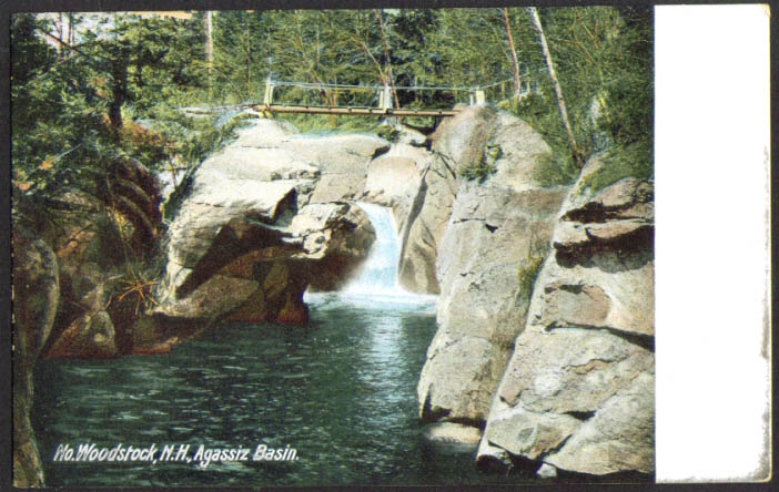 Agassiz Basin North Woodstock NH undivided back postcard 1900s