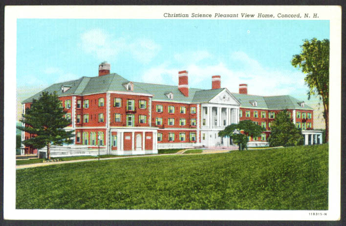 Christian Science Pleasant View Concord NH postcard 1920s