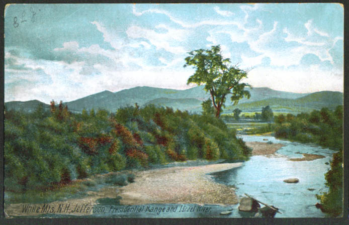 Israel River Mt Jefferson White Mts NH undivided back postcard 1900s