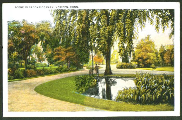 Brookside Park Meriden CT postcard 1910s