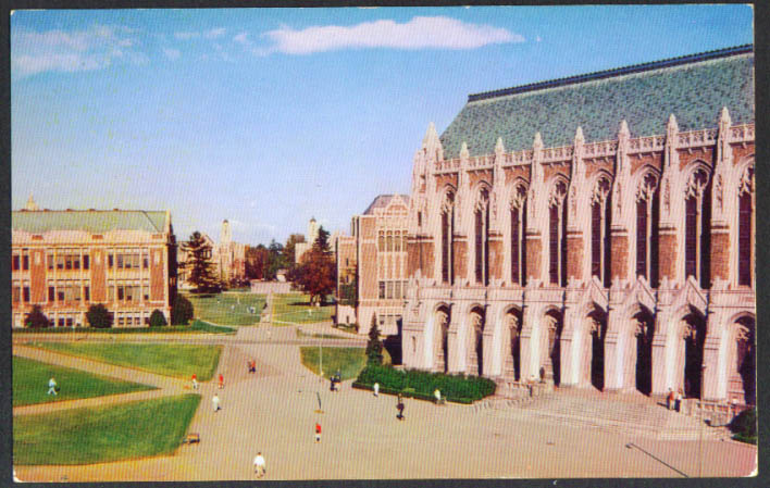 Library Savery Hall University Washington Seattle postcard 1950s
