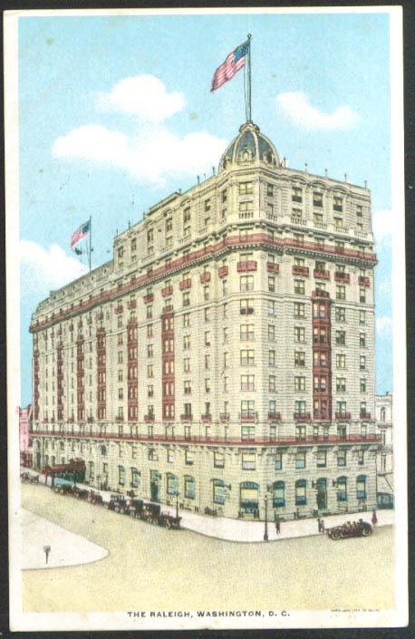 The Raleigh Hotel Washington DC postcard 1924