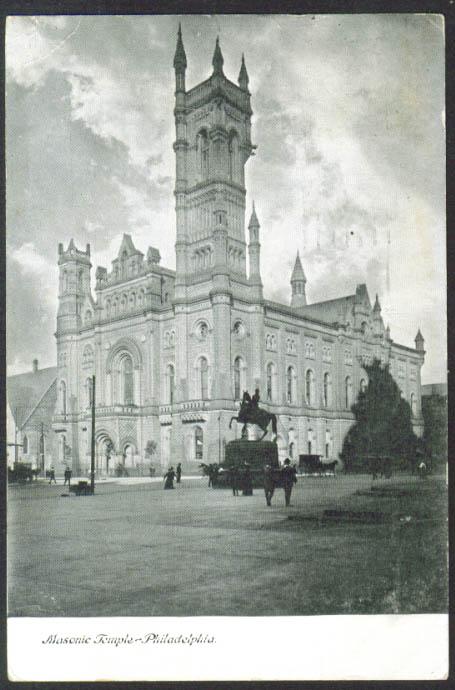 Masonic Temple Philadelphia PA postcard 1908