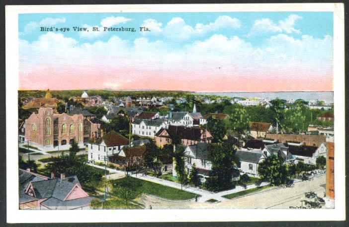 Bird's-eye View of St Petersburg FL postcard 1910s