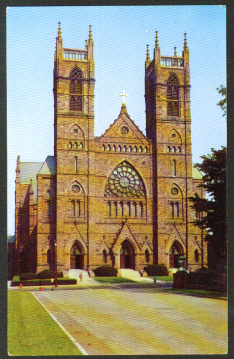 Old St Joseph's Cathedral Hartford CT postcard 1950s