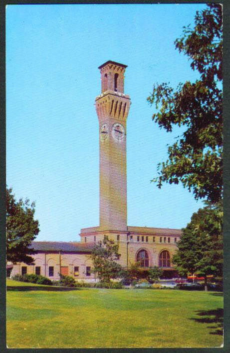NY NH & Hartford RR Station Waterbury CT postcard 1950s