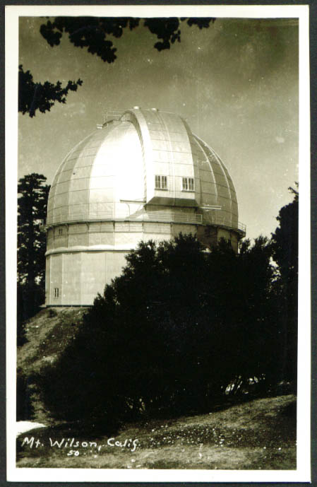 Mount Wilson Observatory CA RPPC 1940s