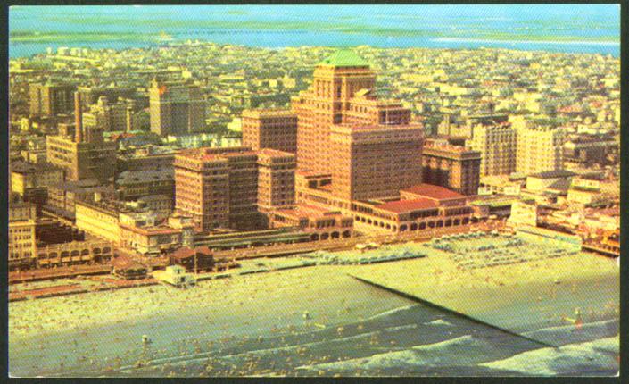 Chalfonte-Haddon Hall Hotel Atlantic City postcard 1940s