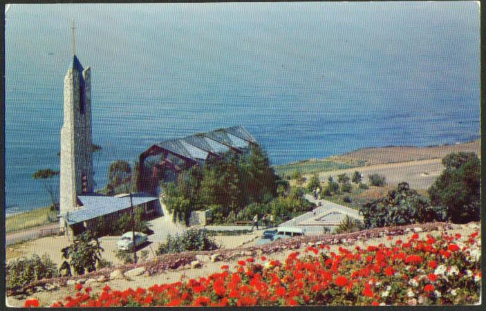 Wayfarers Chapel Portuguese Bend CA postcard 1950s
