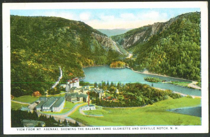 Balsams Lake Gloriette Dixville Notch NH postcard 1910s