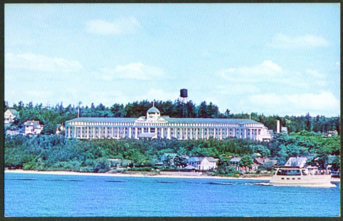 The Grand Hotel Mackinac Island MI postcard 1962