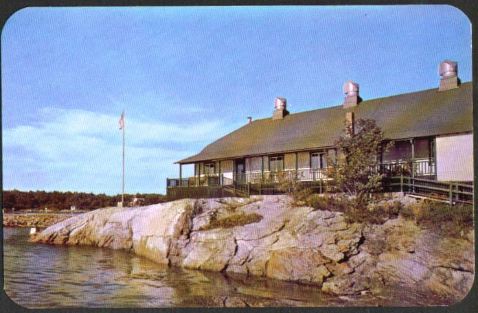 Clipper Sebasco Lodge Cottages Estates ME postcard 1950s