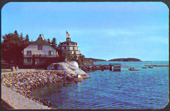 Lighthouse Sebasco Lodge Estates ME postcard 1950s