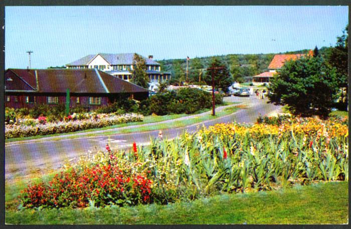 Gardens Sebasco Lodge Cottages Estates ME postcard 1950s