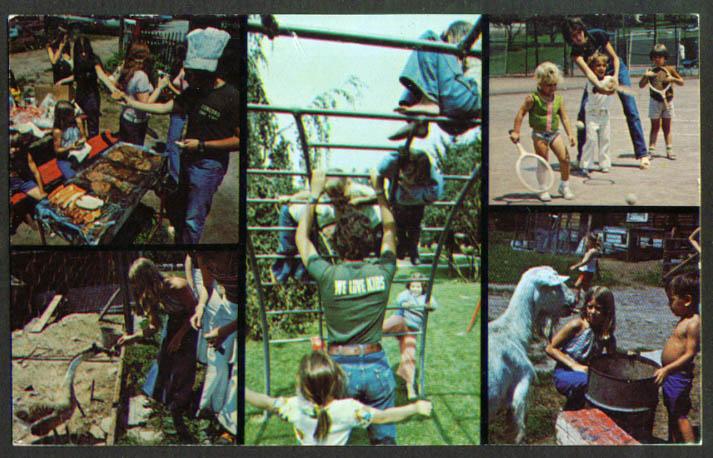 Childrens World Concord Hotel Kiamesha Lake NY postcard 1960s