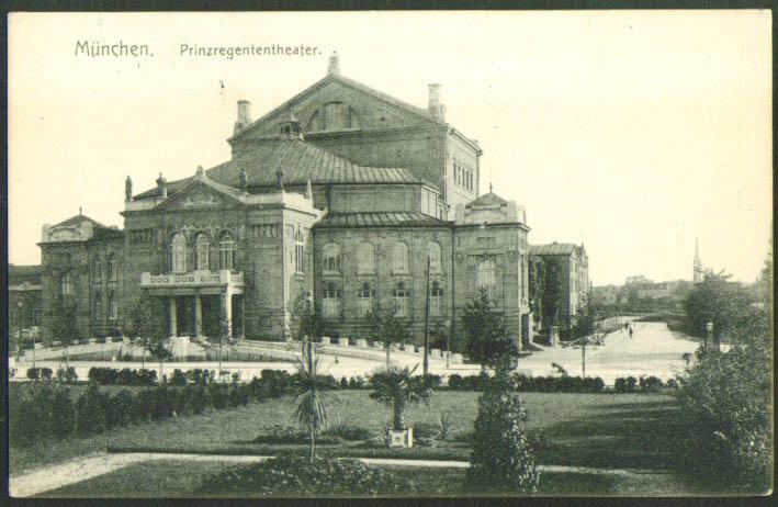 Prinzregenten Theatre Munich Germany postcard 1910s