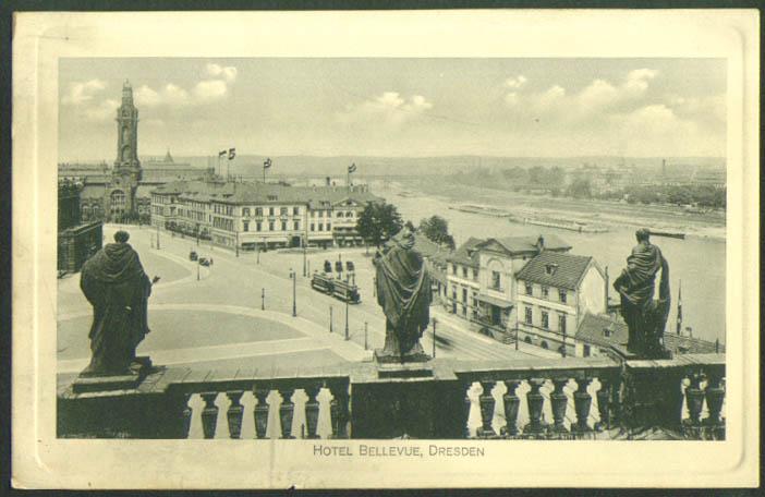 Hotel Bellevue Dresden Germany postcard 1910s