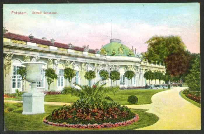 Schloss Sanssouci Pottsdam Germany postcard 1910s