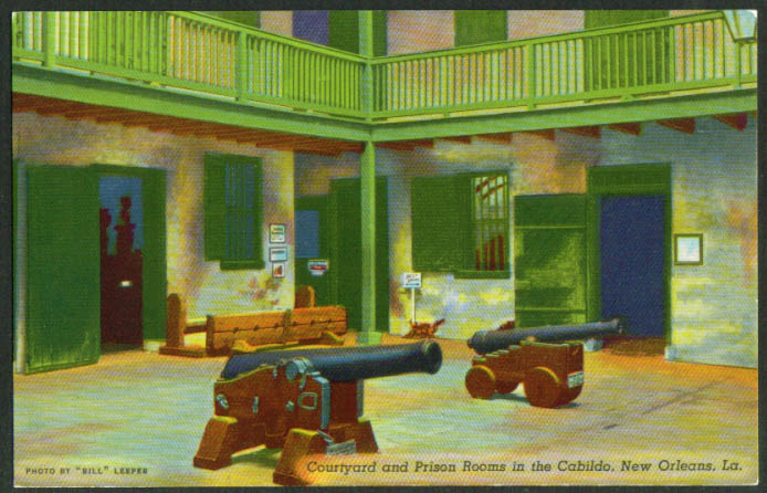 Court Yard Prison Rooms Cabildo New Orleans LA postcard