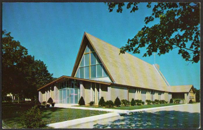 St Mary's Church Clinton CT postcard 1950s