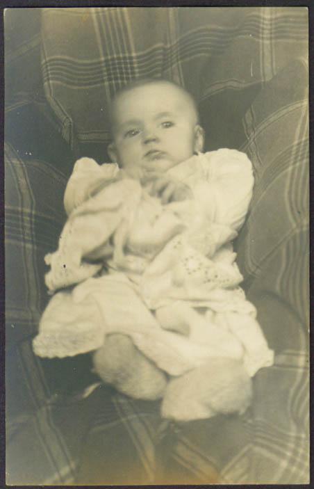 Norma 4 months old Hartford CT RPPC postcard Stoddard? 1910s