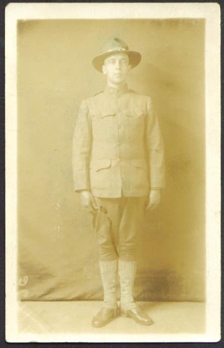 Charles T Merchant 826th Aero Squad Waco TX RPPC 1918
