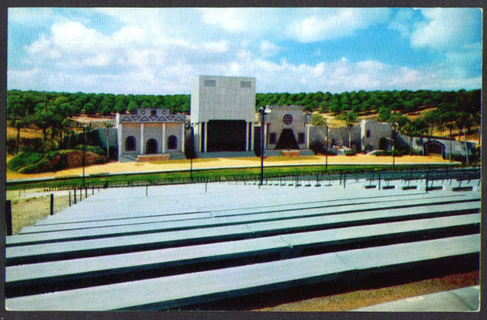 Passion Play Amphitheatre Lake Wales FL postcard 1950s