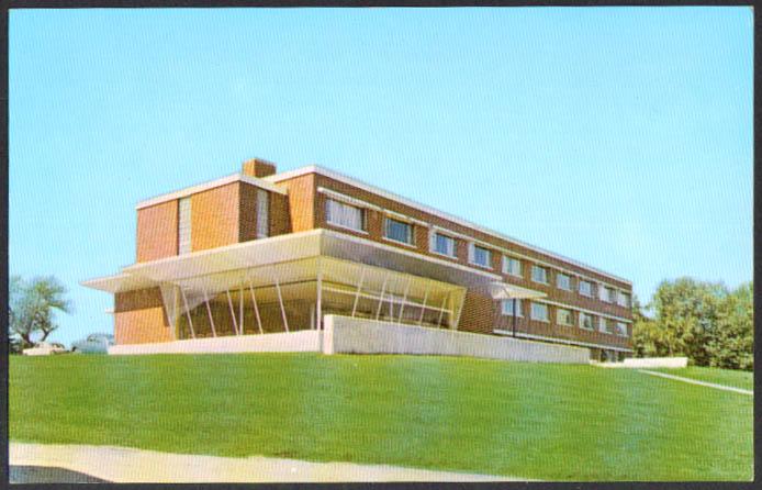 Woodward Hall Gorham State College ME postcard 1950s
