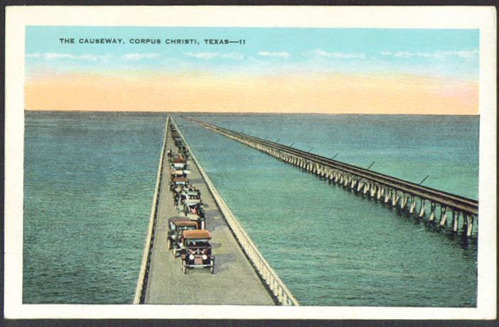 The Causeway at Corpus Christi TX postcard 1910s