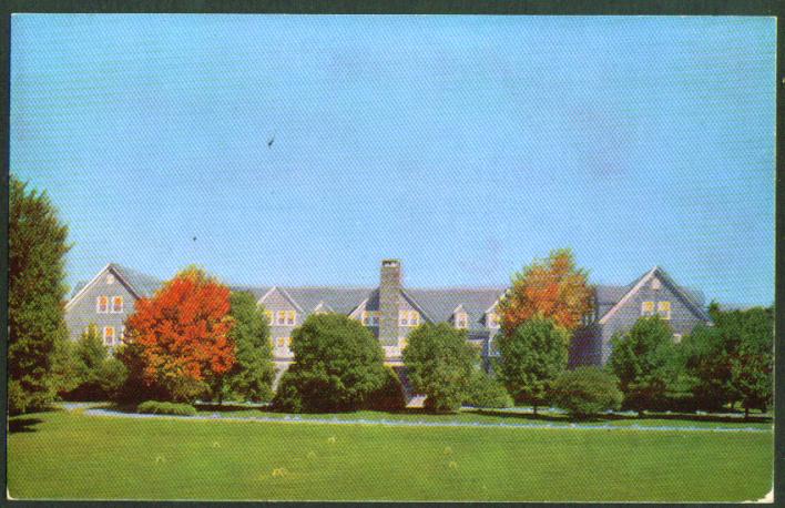 Pocohanne Lodge Pocono Pines Estate PA postcard 1950s