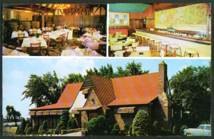 Harry Davis' Hickory House Worcester MA postcard 1950s