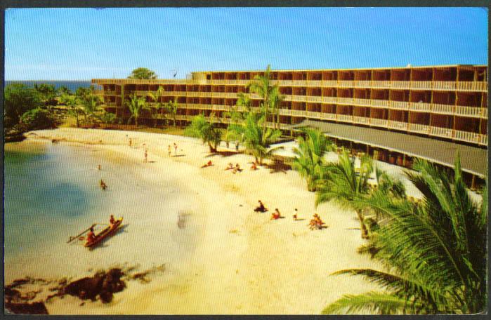 King Kamehameha Hotel Kailua-Kona HI postcard 1950s