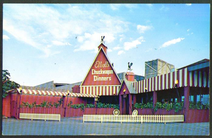 Elliott's Chuckwagon Lounge Honolulu HI postcard 1950s