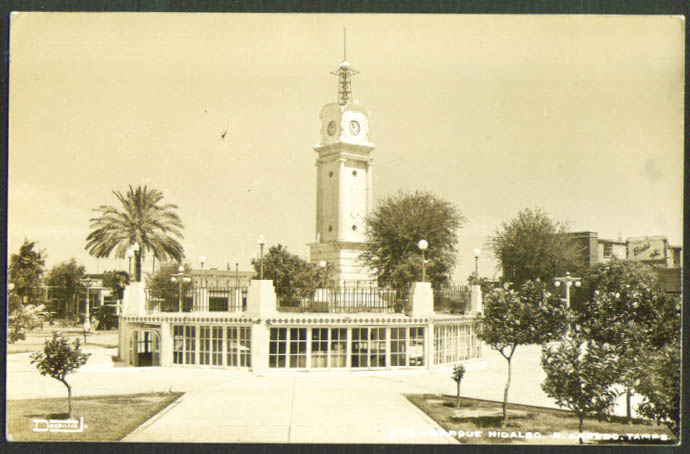 Hildago Park Nuevo Laredo Mexico RPPC 1940s