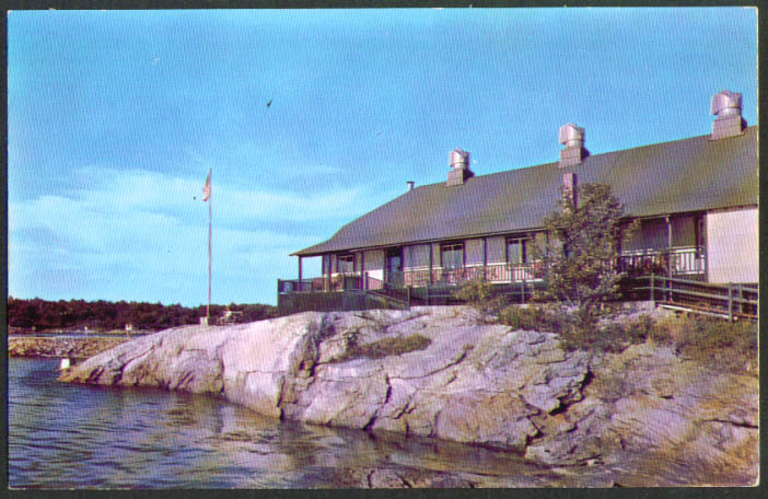 The Clipper Sebasco Lodge Estates ME postcard 1950s