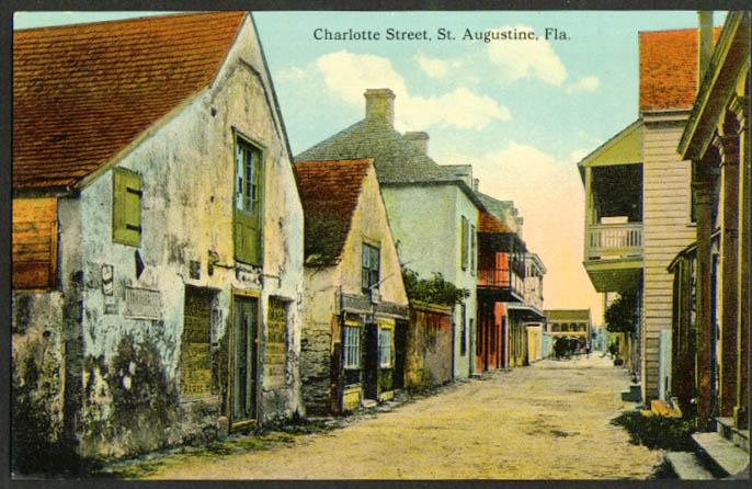 Charlotte Street Saint Augustine FL postcard 1910s