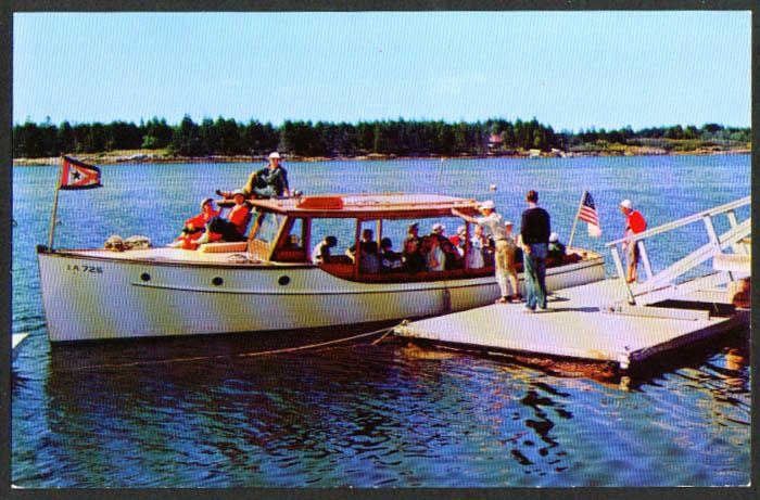 Cruiser Ruth Sebasco Estates Lodge ME postcard 1950s