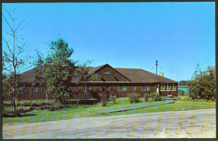 Early Bird House Sebasco Estates Lodge ME postcard 1950s