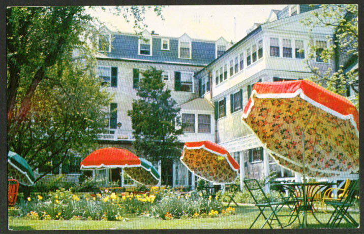 Garden at The Lord Jeffery Amherst MA postcard 1950s