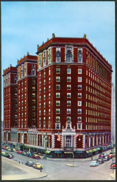 Hotel Syracuse at Syracuse NY postcard 1950s
