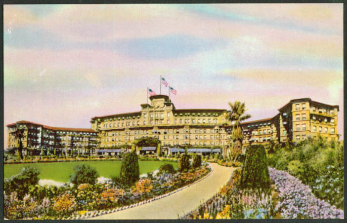 The Huntington Hotel Bungalows Pasadena CA postcard 1930s