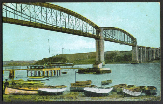 Saltash Bridge Plymouth England postcard 1910s