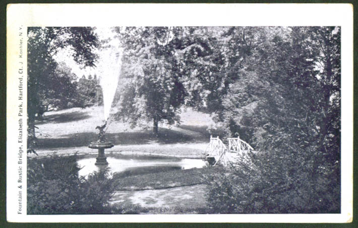 Fountain Elizabeth Park Hartford CT undivided back postcard 1900s