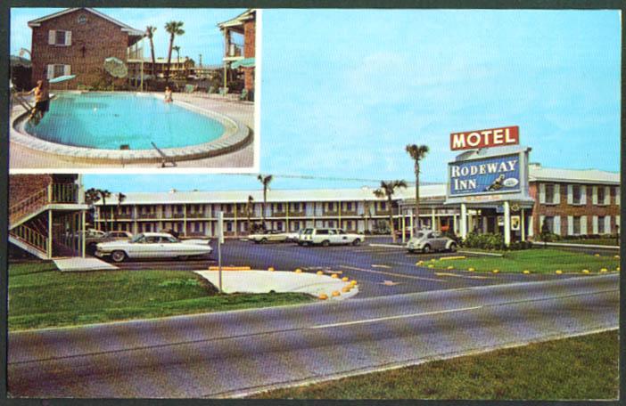 Rodeway Inn Motel Jacksonville FL postcard 1960s