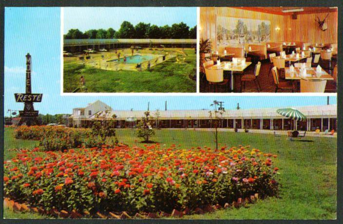 Reste Motel & Restaurant Emporia VA postcard 1960s