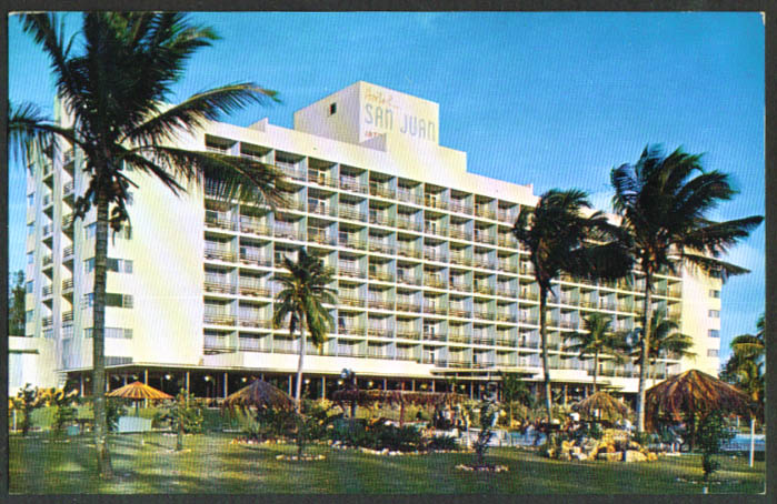 Hotel San Juan Intercontinental PR postcard 1950s